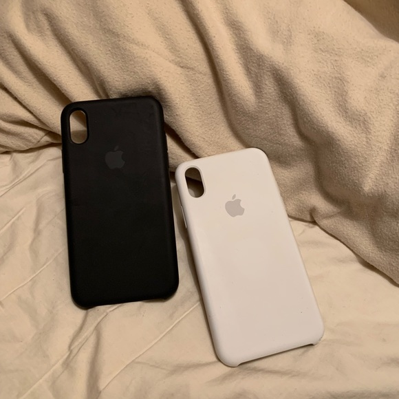 apple Accessories - APPLE IPHONE X  XS SILICONE CASES (BLACK   WHITE) 875ed474be